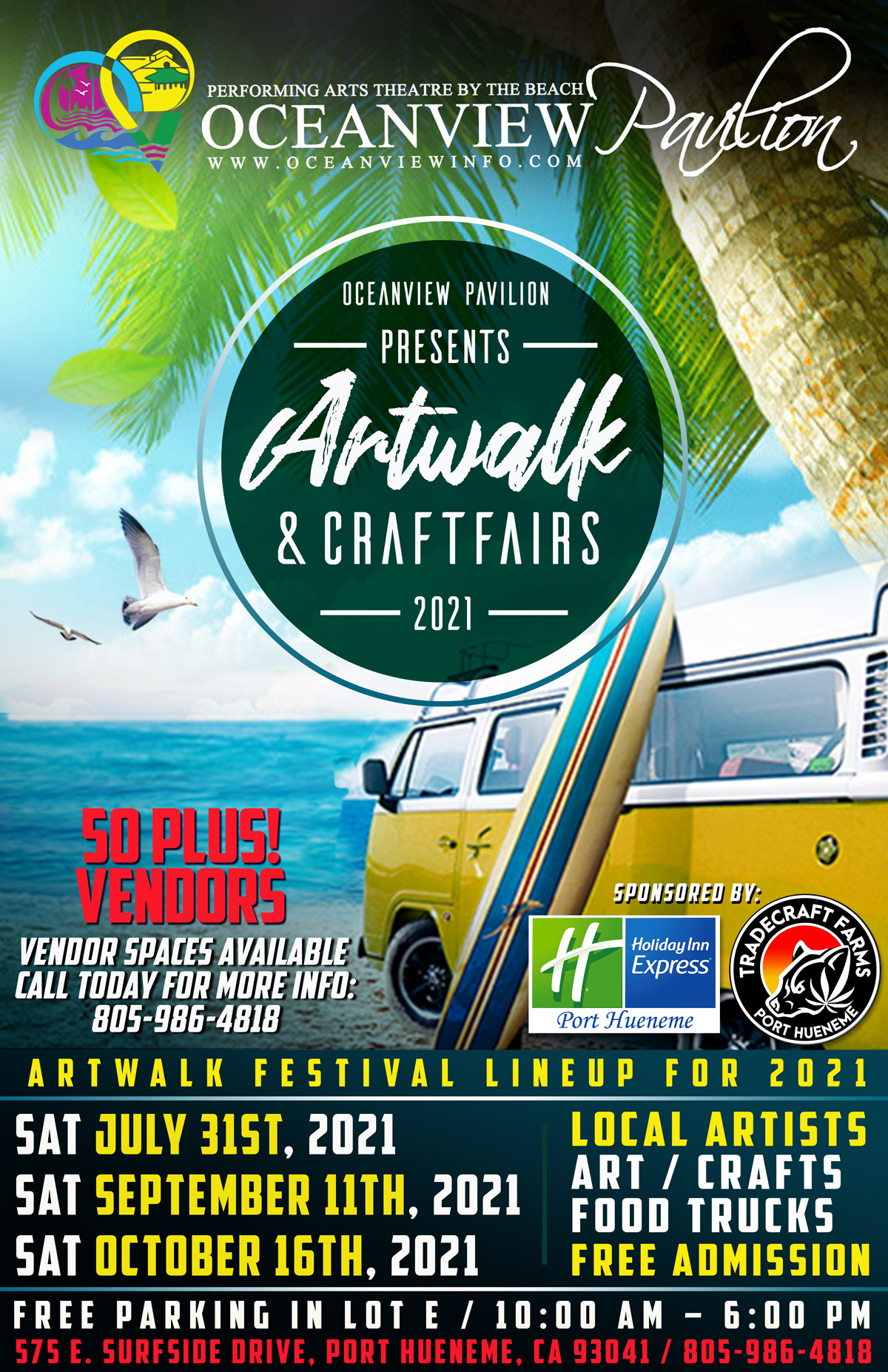 Art Walk and Craft Fair FREE admission @ Oceanview Production Studios